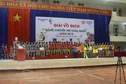 Kết thúc giải bóng chuyền trẻ toàn quốc 2018, đội trẻ CLB bóng chuyền nữ BTL Thông tin - LienVietPostBank giành ngôi á quân