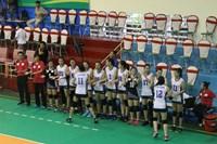 Đội trẻ CLB bóng chuyền nữ BTL Thông tin - LienVietPostBank toàn thắng bảng A, giành quyền vào tứ kết
